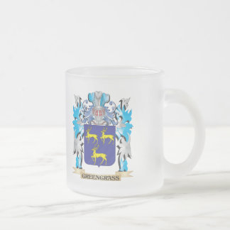 Greengrass Coat of Arms - Family Crest 10 Oz Frosted Glass Coffee Mug