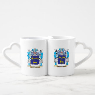 Greengrass Coat of Arms - Family Crest Couples' Coffee Mug Set
