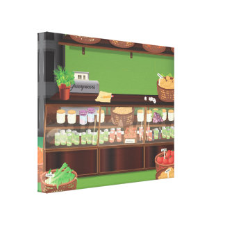 Greengrocers Store Canvas Print