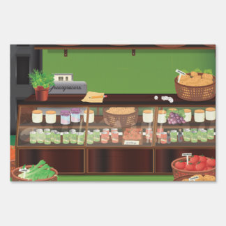 Greengrocers Store Lawn Sign