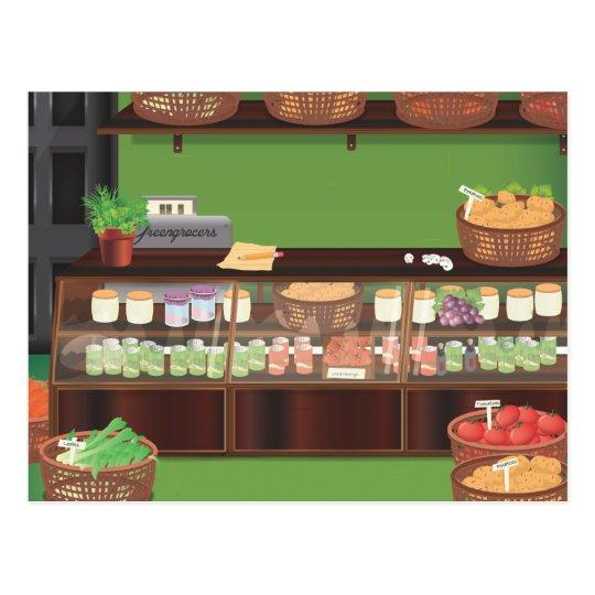 Greengrocers Store Postcard