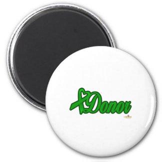 GreenHeartRibbonDonor Imán Redondo 5 Cm