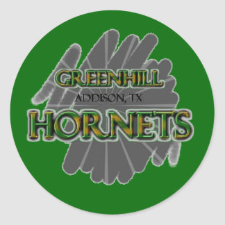 Greenhill Hornets - Addison, TX Classic Round Sticker