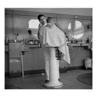 Greenhills, barbería de Ohio, los años 30 Póster
