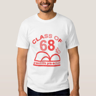 greenhills class of 68 red t-shirt