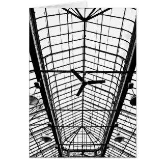 Greenhouse Ceiling in Black and White Card