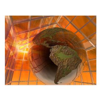Greenhouse effect postcard