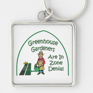 Greenhouse Gardeners Are In Zone Denial Keychain