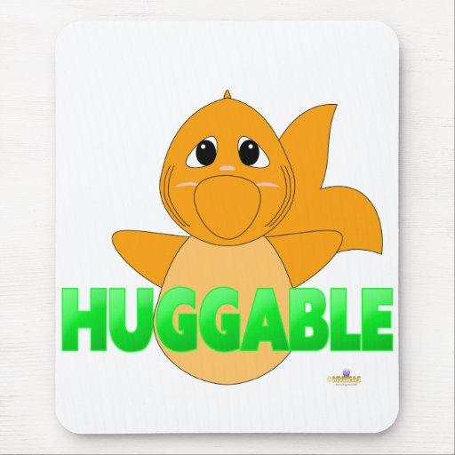 GreenHuggableHuggableGoldfish Alfombrillas De Ratones