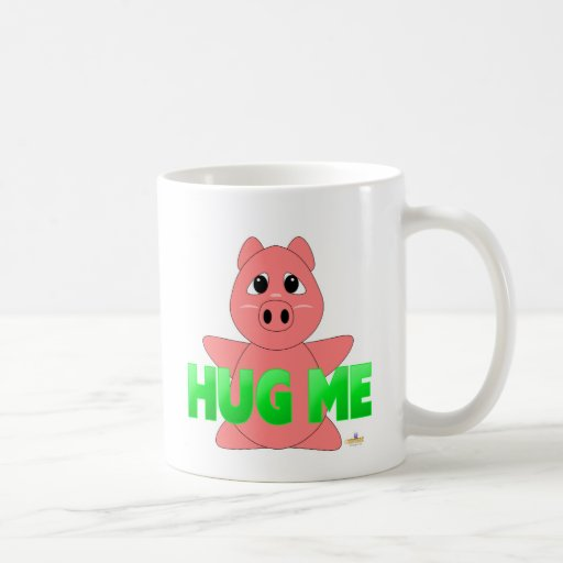 GreenHugMeHuggablePig Classic White Coffee Mug