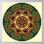 Greenie 1 Mandala  Print Poster