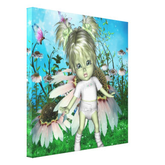 Greenie Baby LuLu Wrapped Canvas Stretched Canvas Prints