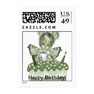 GreenieBabies Happy Birthday Postage Stamp