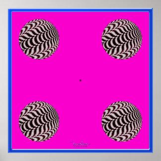 Greening Fast Rotating Balls Optical Illusion Poster
