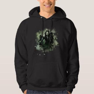 Greenish Aragorn Vector Collage Hooded Sweatshirts