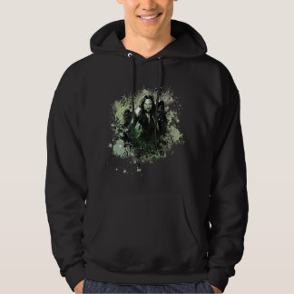Greenish Aragorn Vector Collage Hoodie