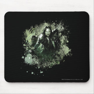 Greenish Aragorn Vector Collage Mouse Pad