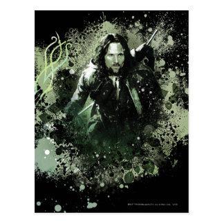 Greenish Aragorn Vector Collage Postcard