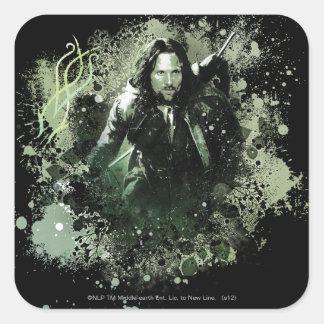 Greenish Aragorn Vector Collage Square Sticker