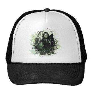 Greenish Aragorn Vector Collage Trucker Hat
