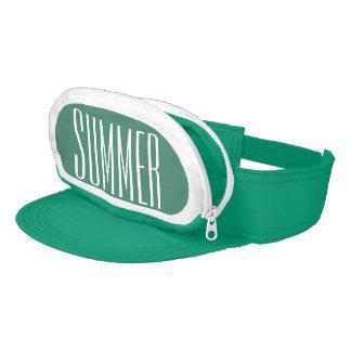 Greenish Blue Cap-Sac fanny pack for head, Summer Visor