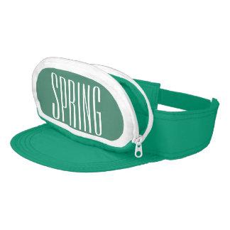 Greenish Blue Cap-Sac fanny pack visor, Spring Visor