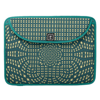greenish blue quilt pattern macbook sleeve