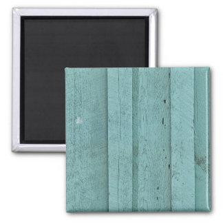 GREENISH BLUE WOOD BOARDS TEXTURES STRIPES PATTERN MAGNET