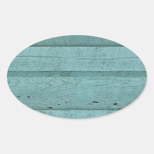 GREENISH BLUE WOOD BOARDS TEXTURES STRIPES PATTERN STICKER