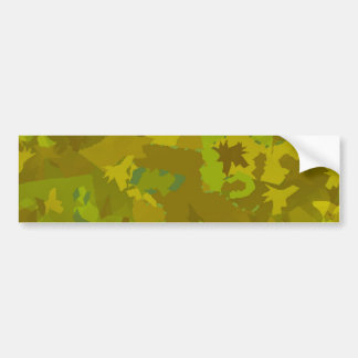 greenish camouflage camo digital pattern bumper sticker
