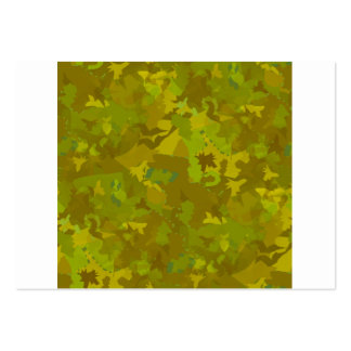 greenish camouflage camo digital pattern large business card