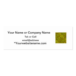 greenish camouflage camo digital pattern mini business card