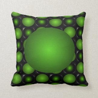 Greenish Chessboard 3D Design Green Ball Pillow