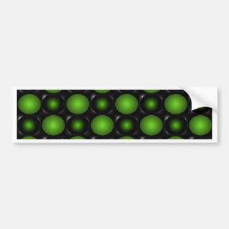 Greenish Chessboard 3D Design Green Bumper Sticker