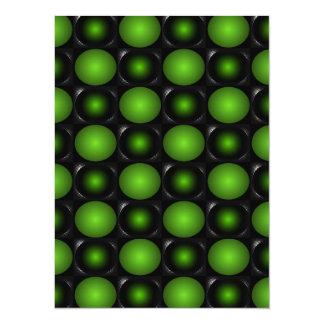 Greenish Chessboard 3D Design Green Card