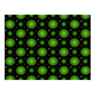 Greenish Chessboard 3D Design Green Postcard