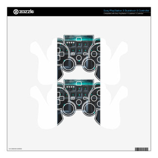 Greenish Gothic Great Wall (pattern surrealism) Decal For PS3 Controller
