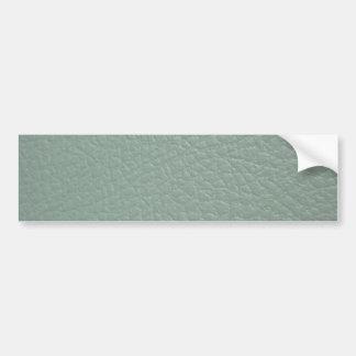 Greenish Grey Leather Look Finish Bumper Sticker