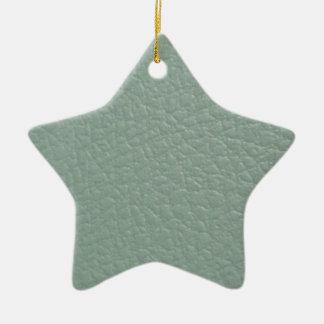 Greenish Grey Leather Look Finish Ceramic Ornament