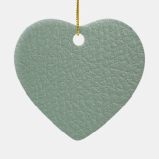 Greenish Grey Leather Look Finish Christmas Ornaments