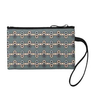 "Greenish grey purse ""flowered Collars """
