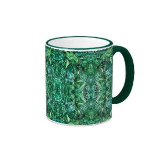 Greenish Kaleidoscope Design Mug