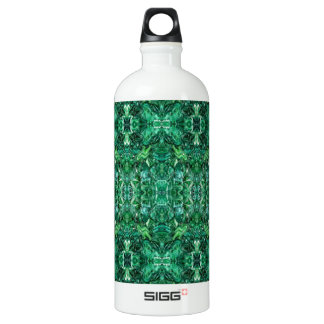 Greenish Kaleidoscope Design Pattern Water Bottle