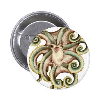Greenish octopus button
