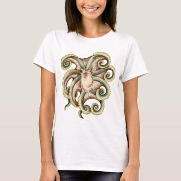Beach Themed Greenish octopus T-Shirt