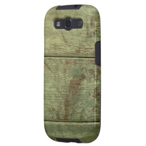 Greenish Old Wood Boards Texture Galaxy S3 Case Samsung Galaxy S3 Cases