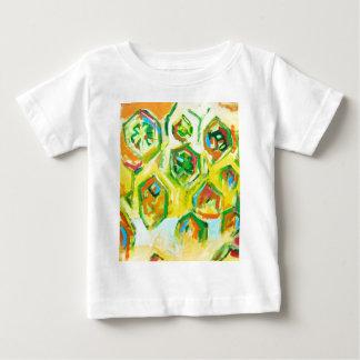 Greenish Raw Hexagons (geometric expressionism) Baby T-Shirt