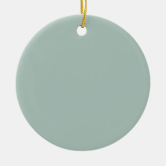 Greenish SeaFOAM KOOLshade LOWEST PRICE Double-Sided Ceramic Round Christmas Ornament