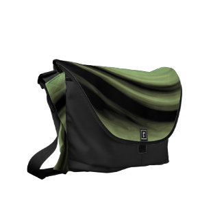 Greenish Swirl Courier Bag