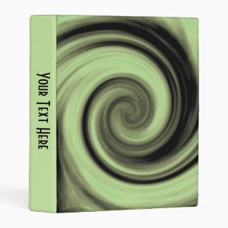 Greenish Swirl Mini Binder